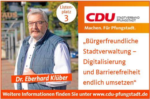 Fraktionsvorsitzender Dr. Eberhard Klüber